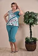 Капри женские зеленые 012, с 42 по 74 размер