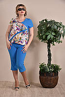 Капри женские синие 012, с 42 по 74 размер