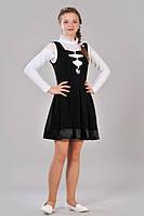 Школьный сарафан для девочки-подростка (чёрный)