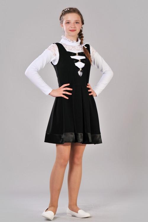 1e4aa370e92 Школьный сарафан для девочки-подростка (чёрный)  продажа