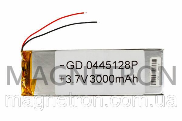 Аккумулятор литий-полимерный GD 0445128P 3,7V 3000 mAh 41x126mm