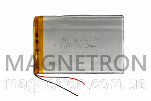 Аккумулятор литий-полимерный GD 5070108P 3,7V 5000 mAh 69x108mm