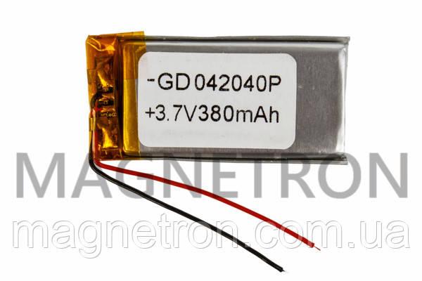 Аккумулятор литий-полимерный GD 042040P 3,7V 380 mAh 20x40mm, фото 2