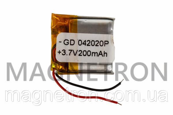 Аккумулятор литий-полимерный GD 042020P 3,7V 200 mAh 20x21mm, фото 2