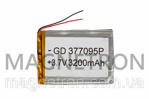 Аккумулятор литий-полимерный GD 377095P 3,7V 3200 mAh 69x95mm