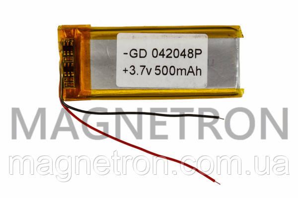 Аккумулятор литий-полимерный GD 042048P 3,7V 500 mAh 20x49mm, фото 2