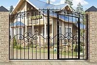 Кованые ворота со встроенной калиткой 1201