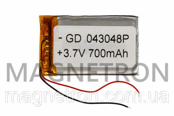 Аккумулятор литий-полимерный GD 043048P 3,7V 700 mAh 28x47mm, фото 2