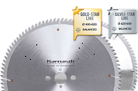 Диск АЛЮ-НЕГАТИВ (тонкий пропил) D=350x 3,4/2,8x 30mm 90 TFN, c напылением GOLD-STAR