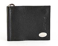 Кожаный компактный мужской зажим для денег  SWAN art. 0014 black, фото 1