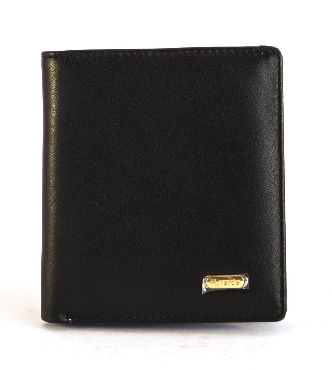 Красивый кожаный и удобный мужской кошелек H.VERDE art. 8550
