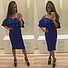 Шикарное платье с двойным воланом, фото 3