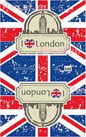 Папка с ручками А4 на молнии развернутая Лондон Полимер 460720