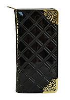 Вместительный женский клатч-кошелек с лакированной искусственной кожи Б/Н art. 007, фото 1