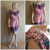 Платье с пояском прямого покроя до колена