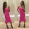 Платье с двойной рюшей по низу, фото 5
