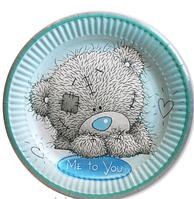 """Тарелки детские праздничные  """"Мишка Тедди"""" ( одноразовая посуда на праздник )"""