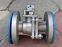 Кран шаровый нержавеющий полнопроходной фланцевый AISI304 Ду25 Ру16