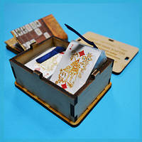 Карты пасьянсные mini (деревянная шкатулка)
