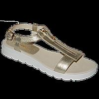 Женские золотые сандалии со змейками
