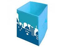 """Ящик для игрушек """"Пейзаж"""" HTKB-3030-006 Украинская Оселя 30*30*45"""