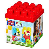 Mega Bloks Конструктор Обучающий кубик Изучи машины First Builders Designer Training Learn cube machine