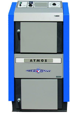 Пиролизный котел отопления на твердом топливе ATMOS DC 50 S (Атмос)