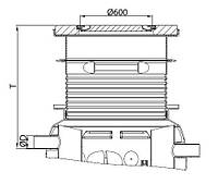 Надставка для сепаратора жира ACO Lipumax P NS 2 класс нагрузки А15 T 720-1985мм, фото 1