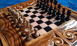 Шахматы - нарды ручной работы, фото 3