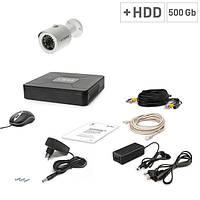 Комплект видеонаблюдения Tecsar 1OUT + HDD 500ГБ