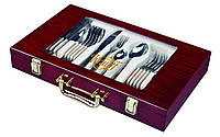 Набор столовых приборов Elegance 24 предмета в чемоданчике Krauff