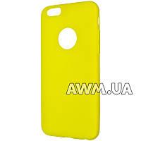 Силиконовый чехол Remax Jelly для Apple iPhone 6 / 6S желтый