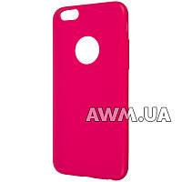 Силиконовый чехол Remax Jelly для Apple iPhone 6 / 6S малиновый