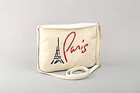 Маленькая женская сумка с вышивкой «Париж», фото 1