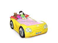 Гербор Лео кровать машина классик  670х2000х1250мм желтая