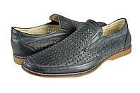Мужские туфли комфорт кожаные mida 13142ч черные   летние , фото 1