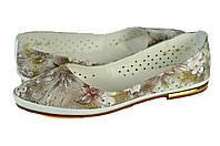Женские балетки кожаные verali 1380.97.1 бежевые   летние , фото 1