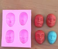 Молд силиконовый 4 лица