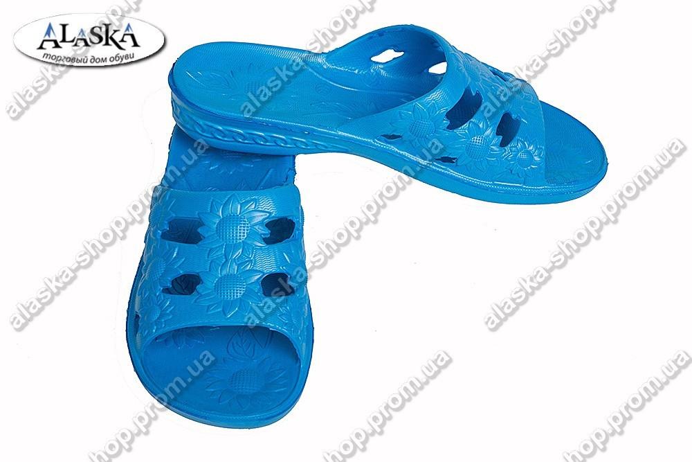Женские шлепанцы синие (Код: С-28)