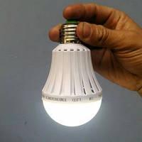 Лампочка с аккумулятором Li-ion аварийная, мощность 5/7/9 Вт, цоколь E27, белое холодное свечение
