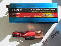 Преобразователь инвертор 12-220V 600W Чистый Синус