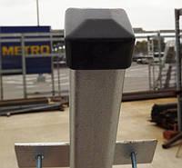 Столб для забора 1,5 м, стальной, для профнастила.