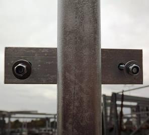 Столб для забора 1,5 м, стальной, для профнастила., фото 2