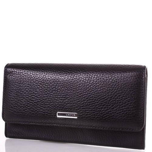 Женский черный кожаный кошелек KARYA (КАРИЯ) SHI1061-2FL