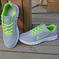 Кроссовки Nike Free Run gray green 39//40