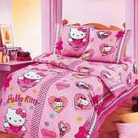 Постельное белье для детей, Китти Бантики бязь, подростковое полуторное постельное белье