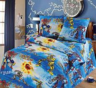 Постельное белье в кроватку, Трансформеры бязь (хлопок 100%), детское постельное белье