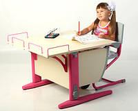 Мебель Дэми модель СУТ 14-01 (СУТ 12-01): регулируемая парта трансфомер с полкой и стул