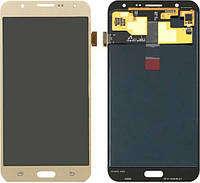 Дисплей (экран) + сенсор (тач скрин) SAMSUNG Galaxy J7 (SM-J700H) Gold (оригинал)