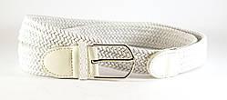 Элегантный белый мужской ремень-резинка от украинского производителя (100005)